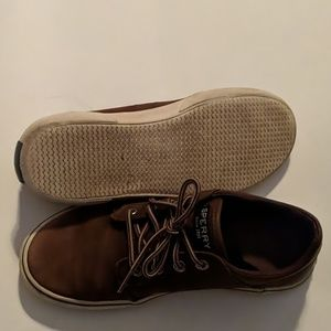 Sperry Shoes - SPERRY OLLIE LEATHER SNEAKERS